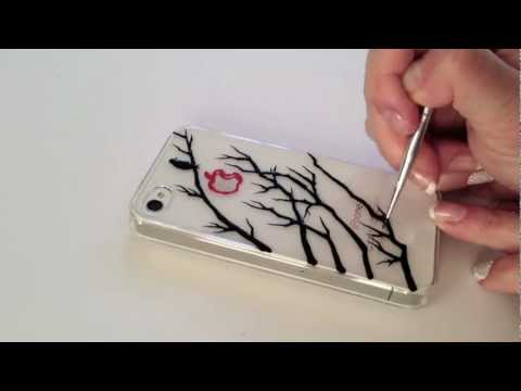 How to paint iphone case: A Bird On The Tree