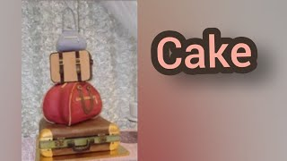 Travelling themed cake - Kartist