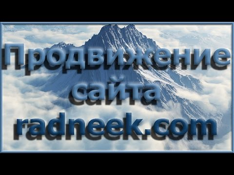 Продвижение сайта самостоятельно. Как раскрутить сайт? Radneek