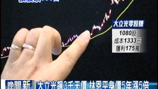 [東森新聞HD]1張股票3百萬 大立光創天價刷新台股記錄