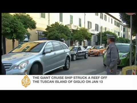 Cruise ship captain meets survivors in Italy