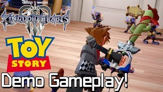 Kingdom Hearts 3 Premiere Demo - Toy Story Hands-On Gameplay!