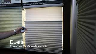 Hunter Douglas Duette Architella Top Down Bottom Up with PowerView at Carolina Blinds