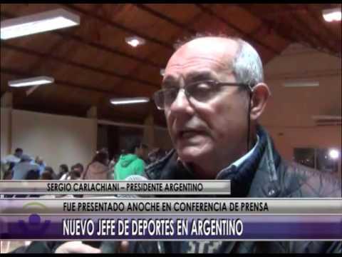 01 07 16   NOTA CARLACHIANI NUEVO JEFE DE DEPORTES ARGENTINO