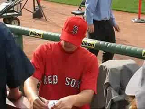 Justin Masterson Sox Autographs 08