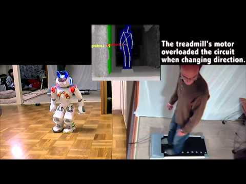 Kinect Controlled Treadmill and Robot Navigation