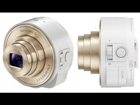 sony qx100 and qx10 attachable lenses for xperia, android