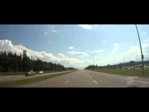 Chicago to Alaska - Day 4 - Calgary to Fort St. John - Banff National Park Sped Up 125X