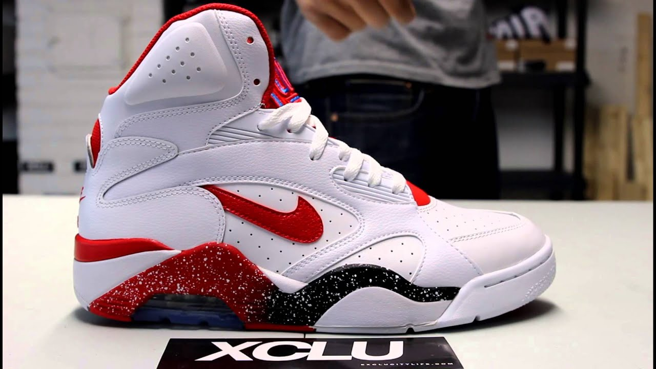 nike air force 180 mid white red unboxing at exclucity