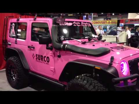 Pink Jeep Wrangler Live 2012 Sema Surco Products And