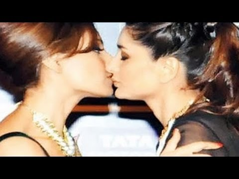 Kareena Kapoor & Bipasha Basu HOT LESBIAN KISS at IIFA Awards Press Conference 2014
