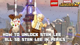 Lego Marvel Super Heroes 2 - How to Unlock Stan Lee - All 50 Stan Lee in Peril Locations -