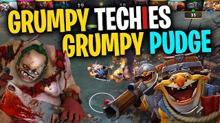 Grumpy Techies, Grumpy Pudge - DotA 2 Full Match