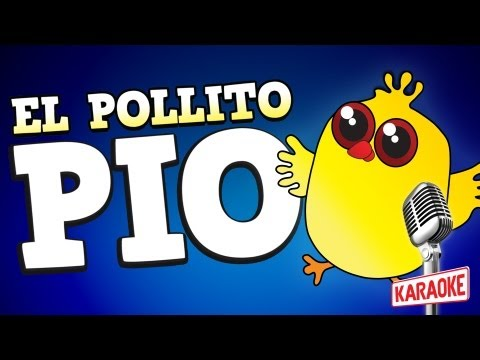 El Pollito Pio Karaoke Instrumental Con Letra video