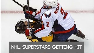 NHL: Superstars getting hit