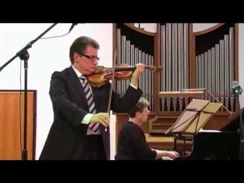 Brahms: Violin Sonata nº 2 (1° mov.) - Micho Dimitrov (violin) Violeta Popova (piano)