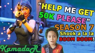 SEASON 7 BEST FORTNITE 9 YEAR OLD - KAMADAR PLAYS LIVE!