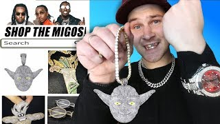 I Bought THE CHEAPEST Migos Rapper CHAINS!! (IS IT WORTH IT?) Quavo. Offset etc