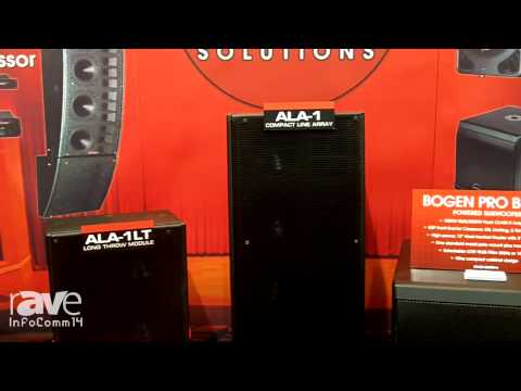 InfoComm 2014: Bogen Shows ALA-1 Series Compact Line Array from Apogee Sound