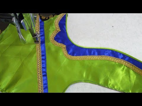 Simple patch work blouse design || women's fashion blouses || designer blouse for sarees