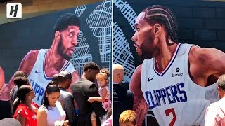 Clippers Unveil a Mural for Kawhi Leonard & Paul George | July 24, 2019