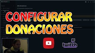 Configurar donaciones Twitch y Youtube en Streamlabs | Alertas OBS Studio