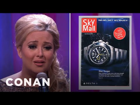 """Adele"" Sings ""Skymall""  - CONAN on TBS"