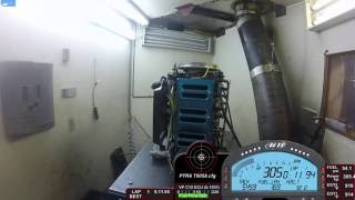 400 hp F1 2.5 L Mercury Dyno Run 9500 rpm