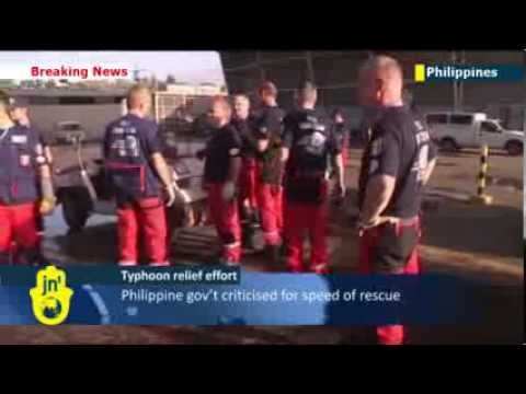Typhoon Haiyan Aid Arriving: International aid workers touch down in Philippines as death toll rises