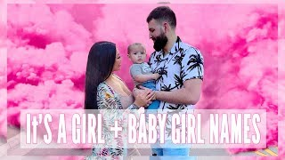 WE'RE HAVING A GIRL + BABY GIRL NAMES