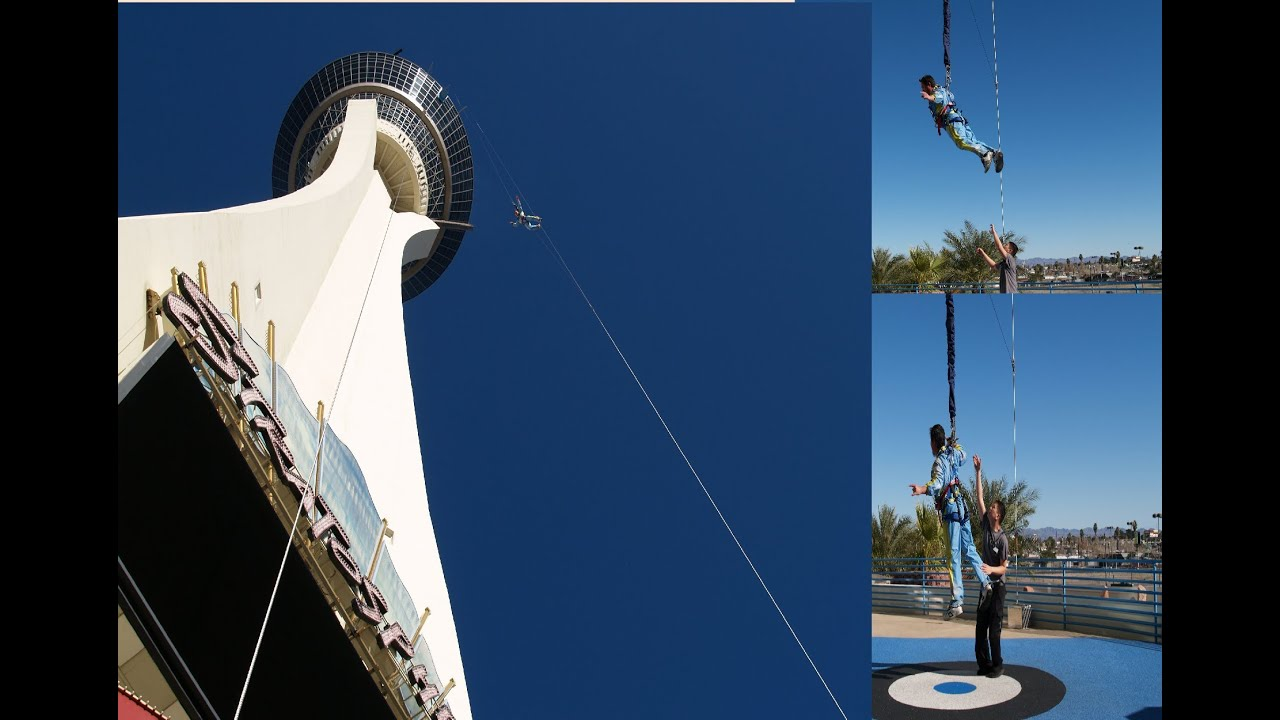 1000 Feet Sky Jump From The Stratosphere Tower Las Vegas