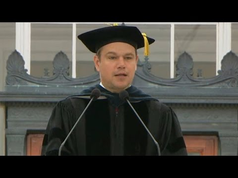Matt Damon's full commencement address at MIT