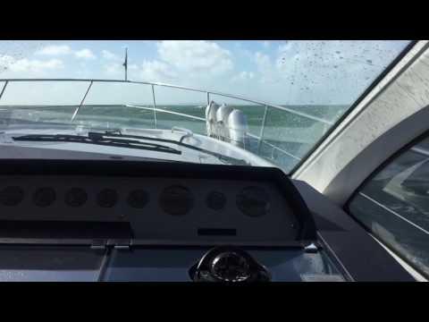 Fairline Targa 47 in rough seas