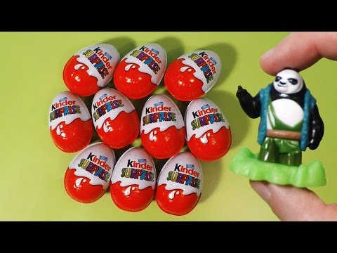10 Kinder Surprise Eggs Kung Fu Panda 3 2016 Movie Surprise Toys
