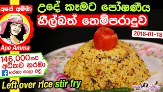 Healthy left over rice stir