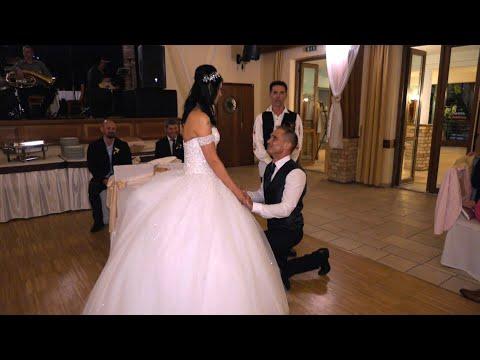 Timi és Marci Fogadalomtétel és Menyasszonytánc esküvői videó, Újhartyán Faluközpont