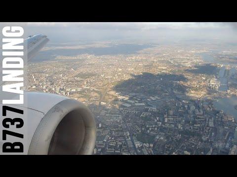 LOT Polish B737-400 'Dreamliner' landing at London Heathrow