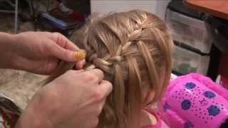 Waterfall Braid With FlatIron Curls // HOW TO BRAID HAIR