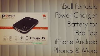 iBall Portable Power Charger Battery for iPad Tab iPhone Android Phones & More
