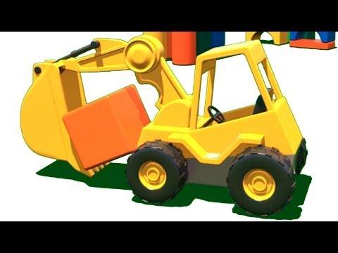 Развивающие мультфильмы про машинки Куб и Экскаватор