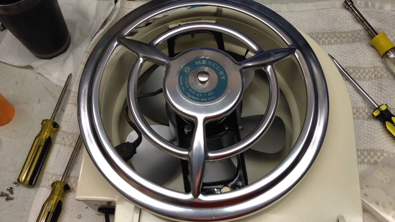The 1950 S Mercury By Nutone Bathroom Fan Youtube