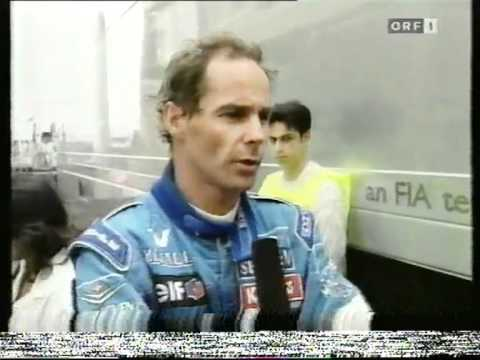 Berger ärgert sich über Schumacher (Monaco 96)