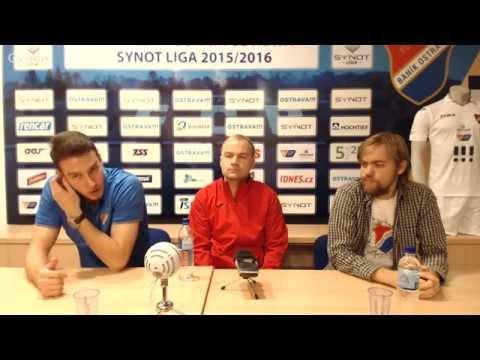 Tisková konference FC Baník Ostrava před utkáním s Bohemians Praha 1905