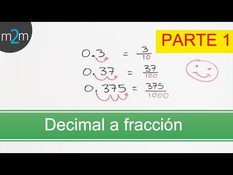 P1.Conversión de una fracción a decimal y viceversa. Converting Fractions to Decimals & vice versa