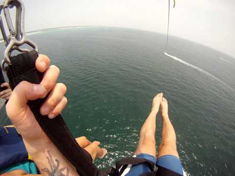 Curt and Jayne Parasailing in Destin FL