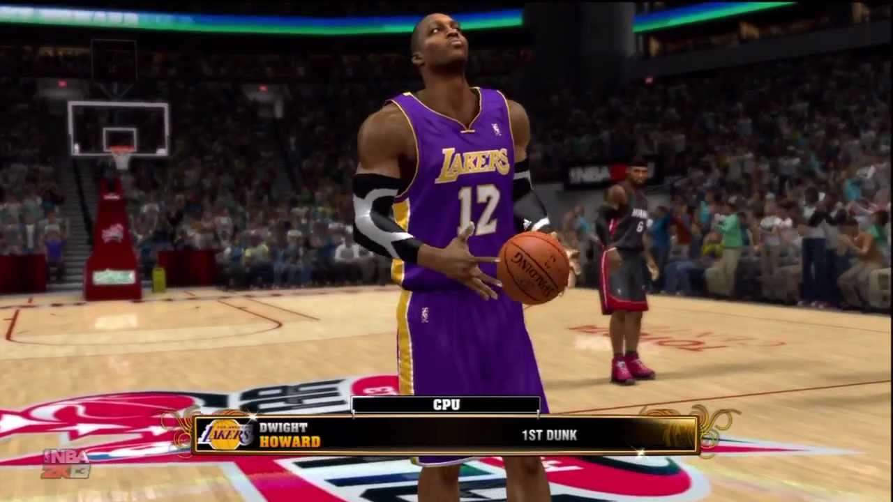 NBA 2K13 All Star Dunk Contest: Lebron James vs Dwight ...