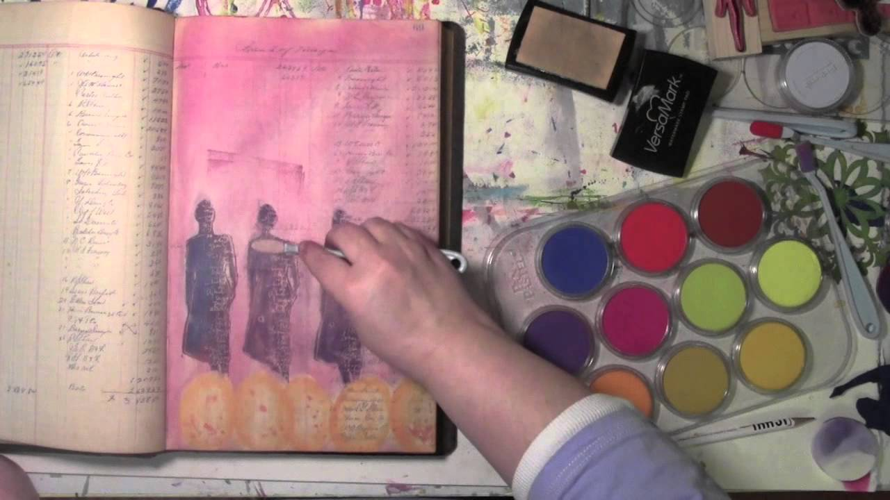 Pan Pastel Drawing Using Pan Pastels in an Art