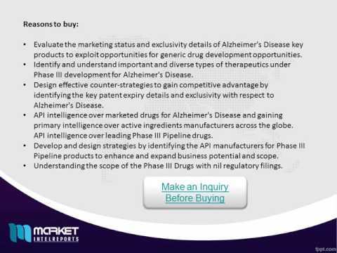 Global Alzheimer's Disease Drugs Market 2018