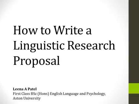 write a research proposal
