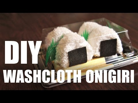 DIY GIFT IDEA   Washcloth ONIGIRI & SUSHI - easy & inexpensive homemade presents